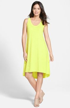 Eileen Fisher Hemp & Organic Cotton Scoop Neck Tank Dress available at #Nordstrom