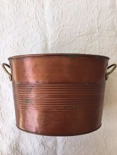 A personal favorite from my Etsy shop https://www.etsy.com/listing/232077830/copper-planter