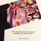 qty 10 Pink Lion Christmas Card Prints Greeting Cards Greeting Cards