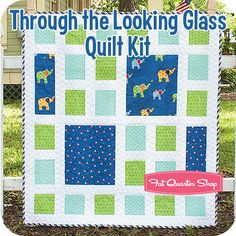 Through the Looking Glass Quilt Kit Featuring Celebration by Bunny Hill Designs