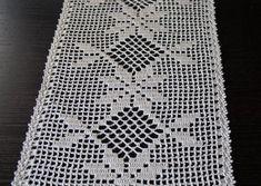Rugs Bed Blanket Home Decor Crochet Borders, Crochet Squares, Crochet Motif, Crochet Patterns, Thread Crochet, Filet Crochet, Easy Crochet, Crochet Table Runner Pattern, Crochet Tablecloth