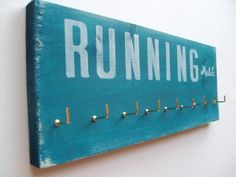 Running Medals display Rack / medals holder by runningonthewall, $28.00