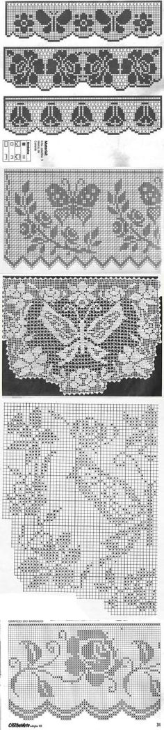 Филейное вязание (много картинок).