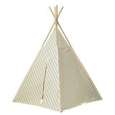 Lasten tipi teltta Mint, Outdoor Gear, Kids Room, Crafts, Pink Stripes, Cabin, Children, Home Decor Accessories, Room Kids