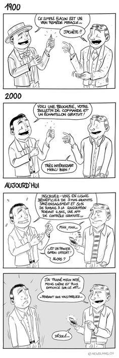 Comic : L'évolution du marketing - New Slang