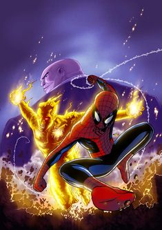 Spider-Man, The Human Torch and the Kingpin
