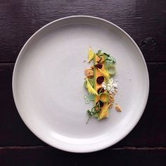 """instagram chef jacques la merde Plating Junk Food Like High End Cuisine """"I CALL THIS DISH """"BUGS ON A STICK"""" B/C THE CRAISINS R THE """"BUGS"""" AND THE CHEEZE WHIZ/CELERY IS THE STICK. ALSO CELERY SODA CAVIAR, GRAHAM CRKR SOIL, CANOLA OIL PWDR + KALE SHREDS"""""""