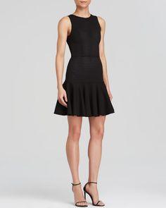 Aqua Dress - Eyelet Knit Fit and Flare