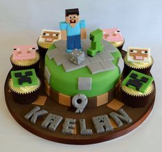 Minecraft Cake i need to make this for griffin's party!