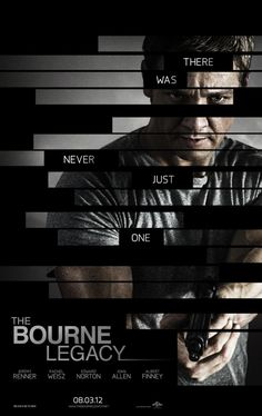 EL LEGADO DE BOURNE / The Bourne Legacy (Tony Gilroy, 2012).  La película y la historia son infumables, sin más. No hay por donde cogerla. Tendré pesadillas durante la verbena