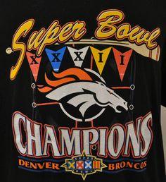 63100727 Logo7 Denver Broncos Super Bowl XXXII Champions 32 XL Tee Shirt Black NFL  #Logo7 #GraphicTee