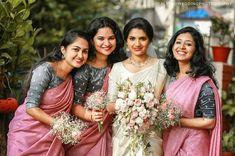 Bridesmaids, Bridesmaid Dresses, Wedding Dresses, Christian Bride, Bridal Outfits, Saree Wedding, Photography Poses, Festive, Wedding Ideas