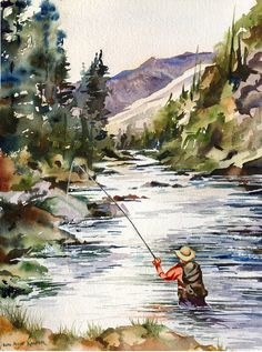 fly fishing (shown to Jack)
