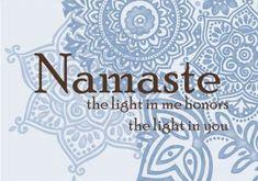 Namaste - inspiration - meditation