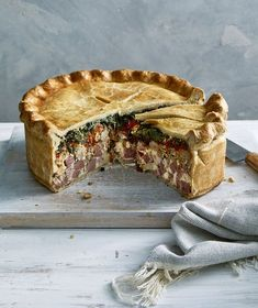 If youre looking for a classic Italian Easter Pie recipe (also called Pizza Rustica) the search is over. This baby is packed with more than two pounds of meat including sweet Italian sausage salami hot capicola smoked ham and prosciutto. Italian Easter Pie, Pie Recipes, Cooking Recipes, Recipes Dinner, Pizza Rustica, Sweet Italian Sausage, Smoked Ham, How To Make Pizza, Easter Recipes