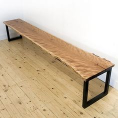 Salvaged Wood Bench - wood slabs available at http://www.BerkshireProducts.com