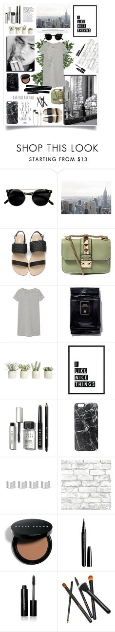 """Untitled #63"" by rennss ❤ liked on Polyvore featuring Valentino, MANGO, Serge Lutens, Allstate Floral, Bobbi Brown Cosmetics, Casetify, Rika, Maison Margiela, Brewster Home Fashions and Marc Jacobs"