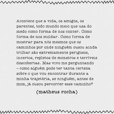 """Neologismo — Matheus Rocha @neologismos """"Não sei se ...Instagram photo   Websta (Webstagram)"""