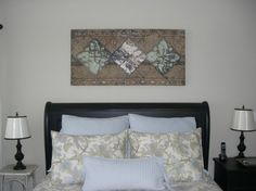 reclaimed, recycled & repurposed... Antique tin ceiling tiles by   Kenny The Tin Man Hoff    www.thetinmanart.com