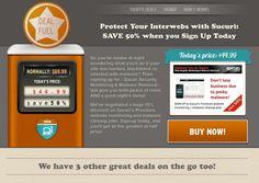 dealfuel.com - a unique design using large images