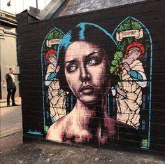 Lowdown aka WILL BENTHAM in Manchester, UK, 2019 Street Art London, Bansky, Sculptures, Horror, Murals, Drawings, Manchester Uk, Creative, Artist