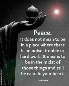 Peace is within