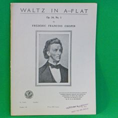 1913 Art Publication Society Teacher's Library Sheet Music, Issue #1011, Chopin