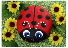 rock crafts for the garden    The Daily Tiffin Art of Rock Painting Kids Crafts Image via