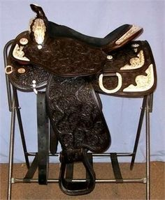 Western Saddle Circle Y Pyramid New Arabian Show Saddle. Free ...