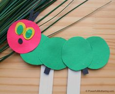 Completed Hungry Caterpillar Craft For Kids