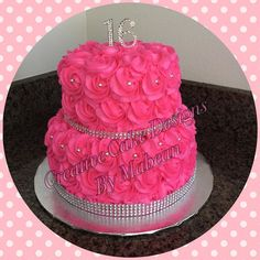 Rosetta vanilla moist cake. Thanks to Amarilis for your repeat business. I am very thankful for the opportunity to make this sweet creations. Happy 16th Birthday Amber #rosettacakes #sweet16cake #birthdaycakes #customcakes #quinceaneracakes #pinkcakes #centralfloridacakes #cakesinkissimmee #cakesinorlando #creativecakedesignsbymabean by creative_cake_designs_mabean