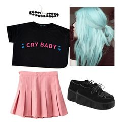"""""""Crybaby - Melanie Martinez"""" by charlotte-t11 ❤ liked on Polyvore featuring Demonia"""