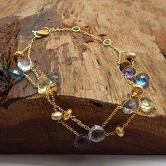 Multi Gemstone Handmade Sterling Silver Bracelets by darlingpiece