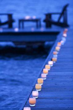 Candle lit walkways