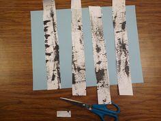 ARTASTIC! Miss Oetken's Artists: Textured Winter Birch Trees and Cardinals