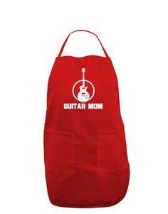 TooLoud Guitar Mom - Mother's Day Design Dark Adult Apron
