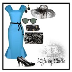 """Belle of the Races"" by ciliayvette ❤ liked on Polyvore featuring Madden Girl, Polo Ralph Lauren, Kenneth Jay Lane, Sequin, Scala, Nina and secretninjanails"