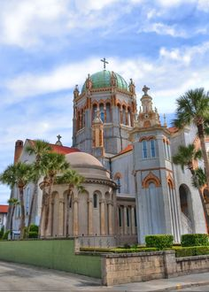 My Church-Flagler Memorial Presbyterian Church.St Augustine, Florida built by Henry M. Flagler in remembrance of this daughter. She and her baby and father, Mr. Flagler are buried in a mausoleum inside the church. Oh The Places You'll Go, Places To Travel, Places To Visit, Florida Travel, Travel Usa, Nice Travel, Globe Travel, Place Of Worship, Sunday Worship