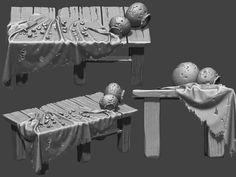 ArtStation - Old Hut, Samar Sonone 3d Background, Samar, Zbrush, Sculpting, Decal, Environment, Models, Artwork, Fabric