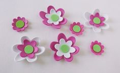 7- 3d foam flowers ideal for foam crafts, fofuchas and more