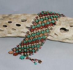TUTORIAL PonDuo Tapestry Bracelet | MikkiFerrugiaroDesigns - Patterns on ArtFire