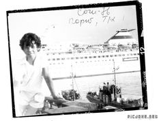 THE USSR. 1976. Sochi. Roma Stupak with his parents at sea.