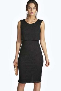 Laura All Over Lace Double Layer Dress at boohoo.com