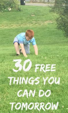 30 free things you can do tomorrow