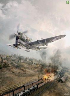 """P-47 """"SENTA A PUA"""" #jetfighter"""