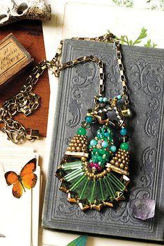 Verte Strata Necklace #anthrofave #juvenilehalldesign likes this