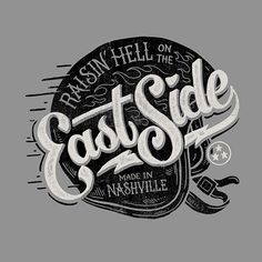 30 Vintage Designs for Custom Car & Motorcycle Brands East Side Tee Design by Derrick Castle Creative Typography, Typography Letters, Graphic Design Typography, Logos Vintage, Vintage Designs, Vintage Graphic, Vintage Typography, Vintage Tees, Tee Design