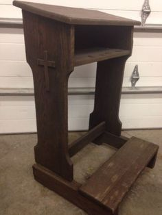 Antique-Prie-Dieu-Kneeler-Prayer-Bench-With-Side-Cross