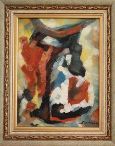 FIRMINO SALDANHA(1905/1985) - Abstrato, ost, 40x30cm, assinado e datado 1976. Arquiteto e pintor, iniciou-se na pintura em 1945, no SNAM conquistou em 1956 o Prêmio de Viagem ao Exterior. Com várias participações na BIENAL de SP. Na década de 50 foi dos mais típicos representantes do Abstracionismo Lírico no Brasil (Teixeira Leite). O MNBA conta com três de suas obras.