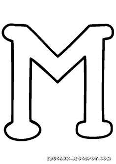 Molde da letra maiúscula M